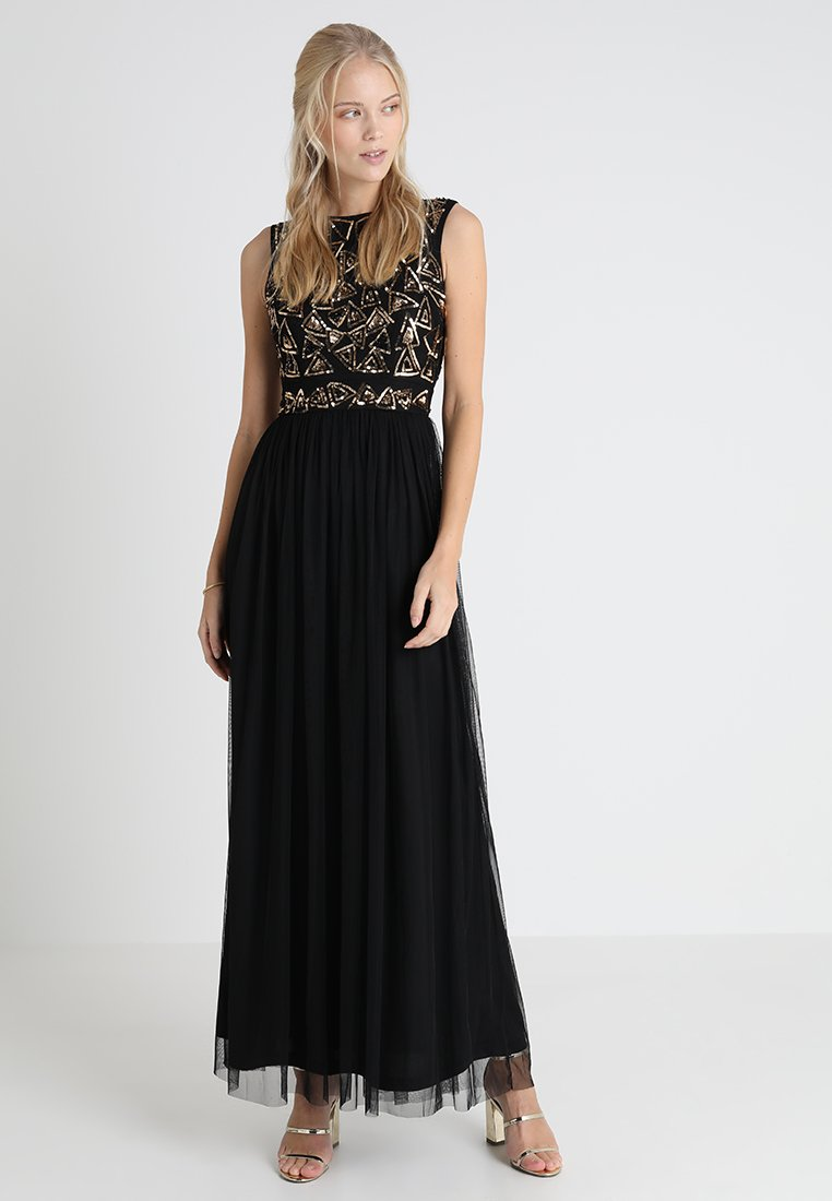 Lace & Beads - STARLIGHT - Vestido de fiesta - black/gold