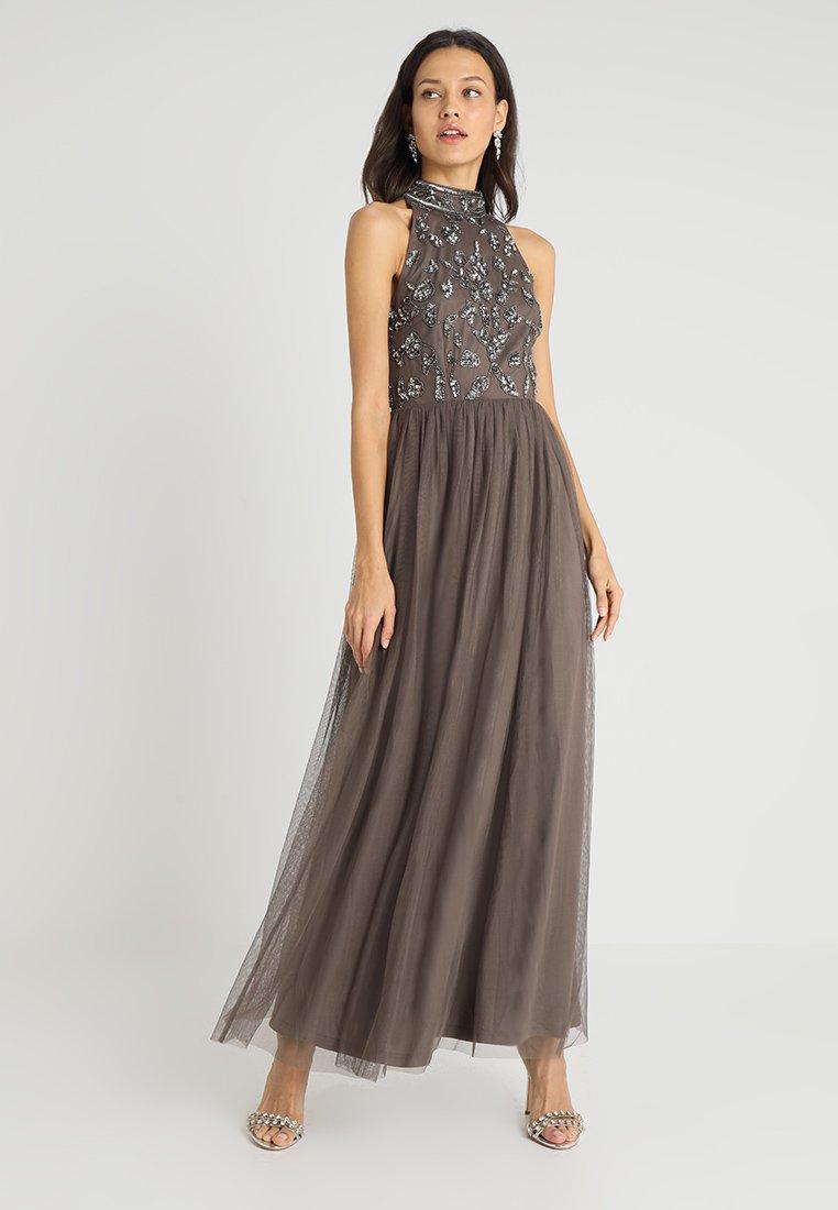 Lace & Beads - DERYA MAXI - Vestido de fiesta - stone