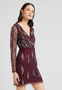 Lace & Beads - MAJIC DRESS - Cocktailkjole - bordeaux - 5