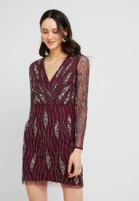 Lace & Beads - MAJIC DRESS - Cocktailkjole - bordeaux - 0
