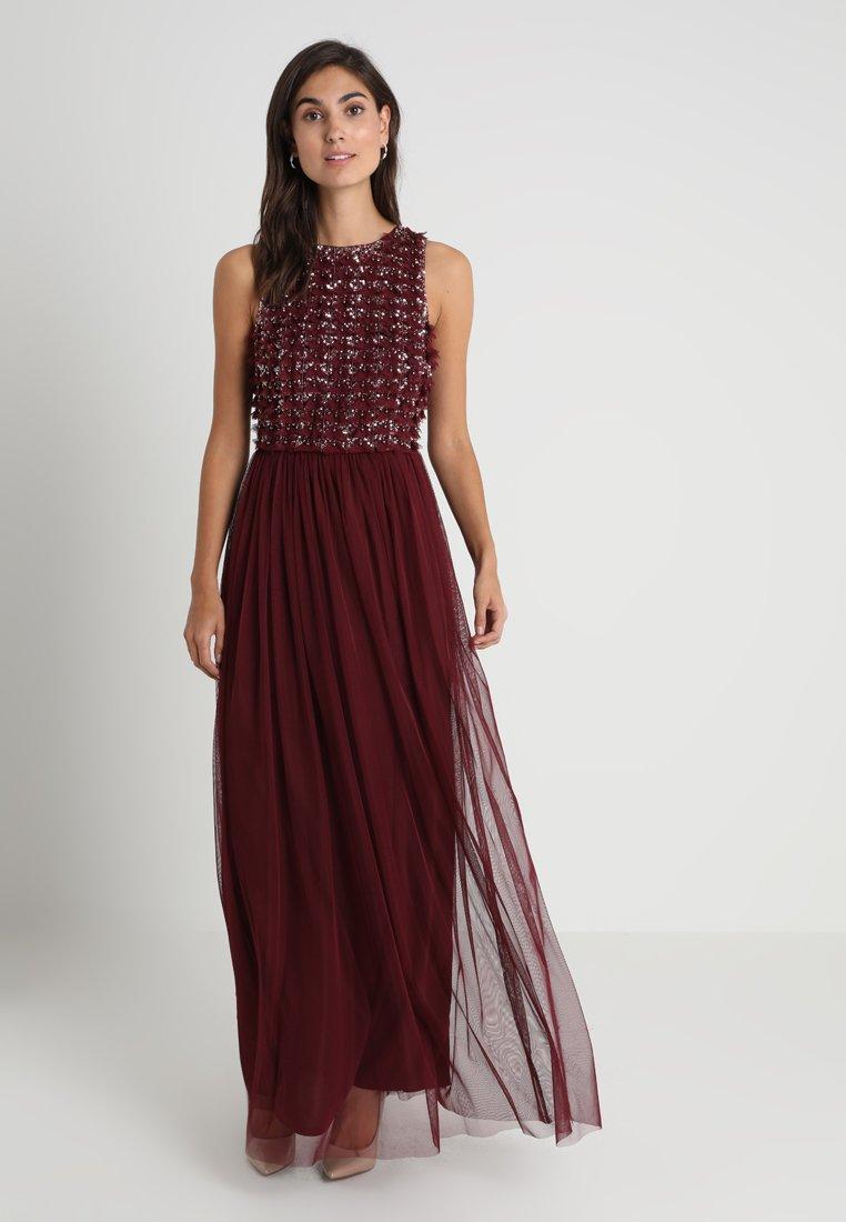 Lace & Beads - JONO MAXI - Galajurk - burgundy