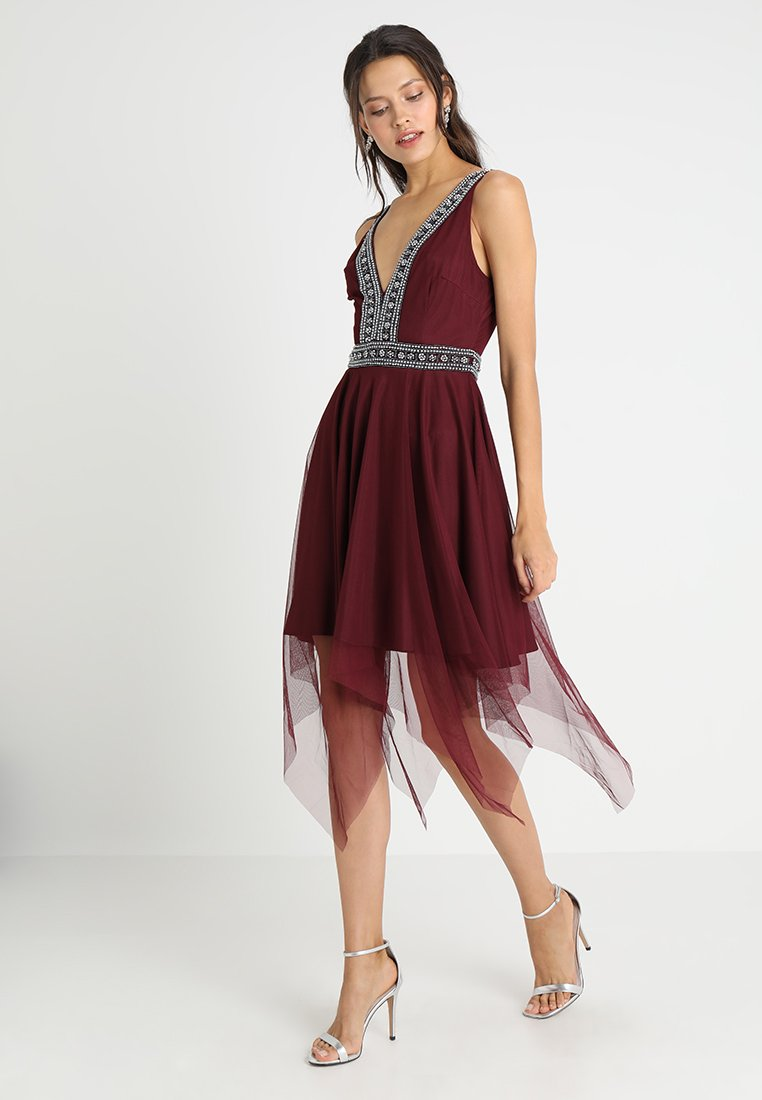 Lace & Beads - JULIETE DRESS - Cocktailkleid/festliches Kleid - burgundy as jono