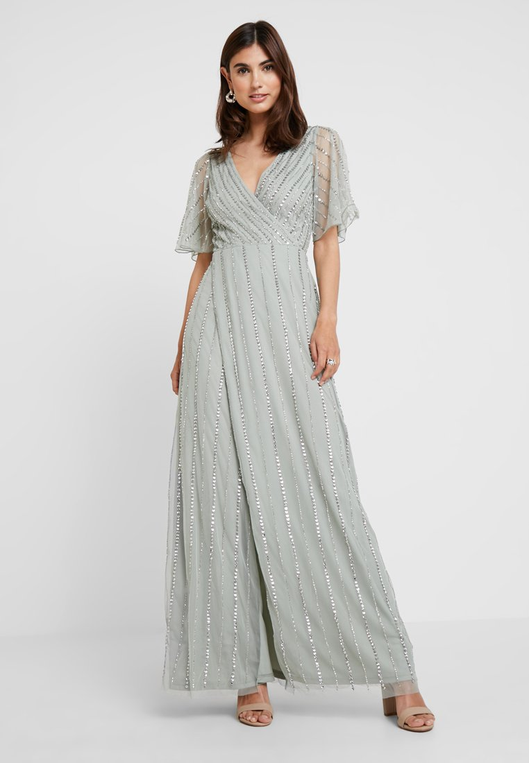 Lace & Beads - MARTNA MAXI - Ballkleid - sea foam