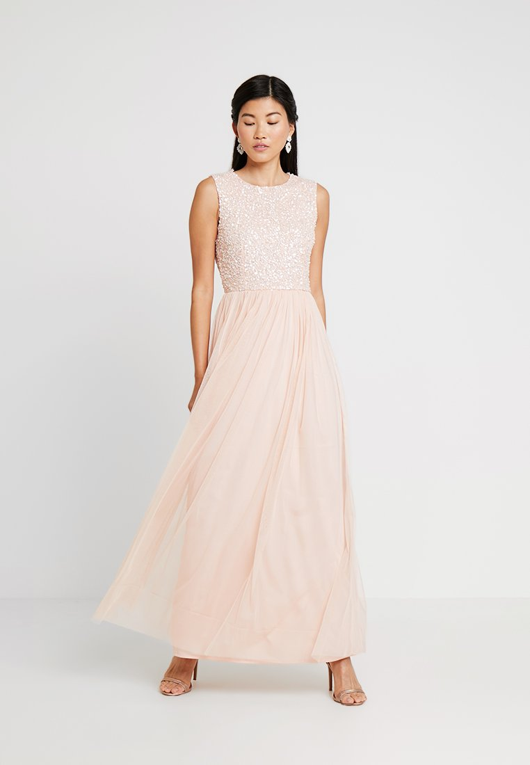 Lace & Beads - NICASSO RUFFLE MAXI - Occasion wear - nude as belle