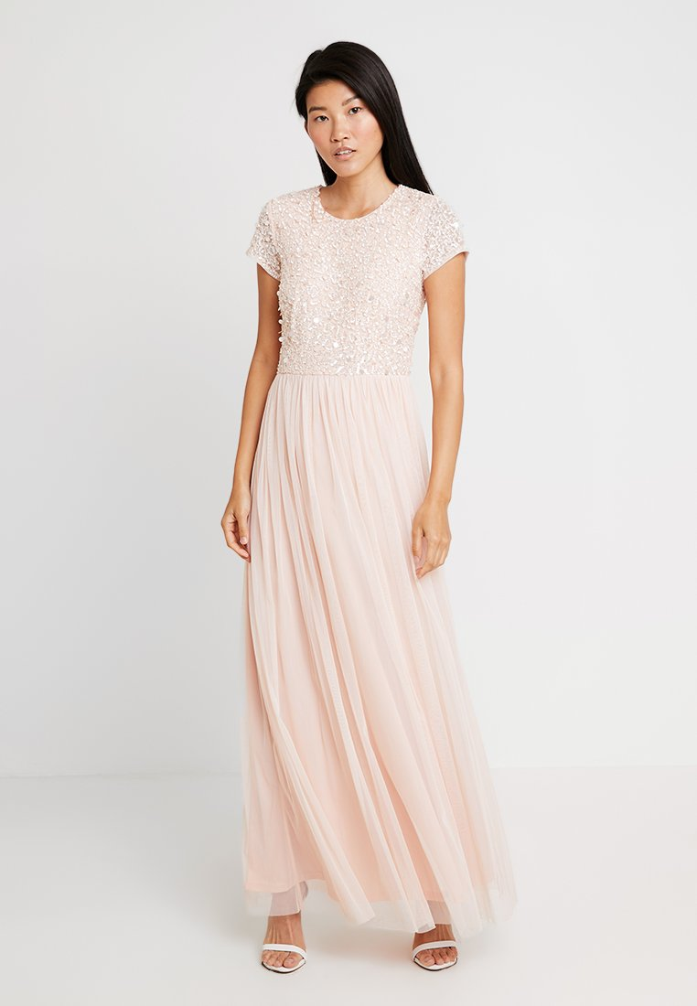 Lace & Beads - PICASSO CAP SLEEVE - Galajurk - nude belle