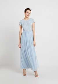 Lace & Beads - PICASSO CAP SLEEVE - Iltapuku - powder blue - 0