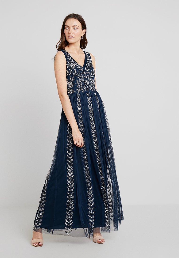 Lace & Beads - ACKLEY MAXI - Společenské šaty - navy