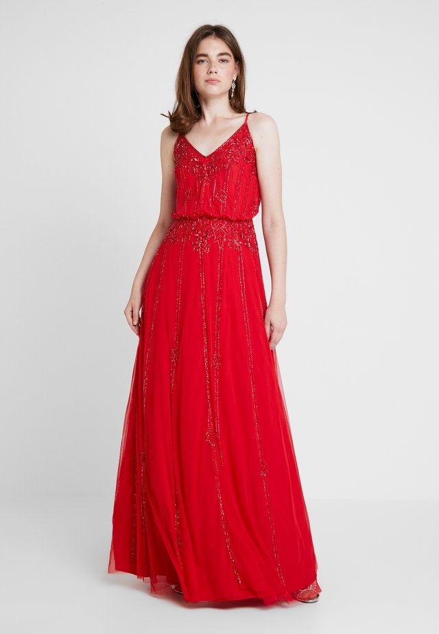 KEEVA GOWN - Occasion wear - red