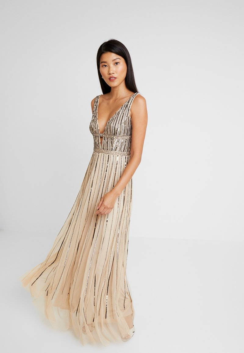 Lace & Beads - MYLA MAXI - Occasion wear - beige