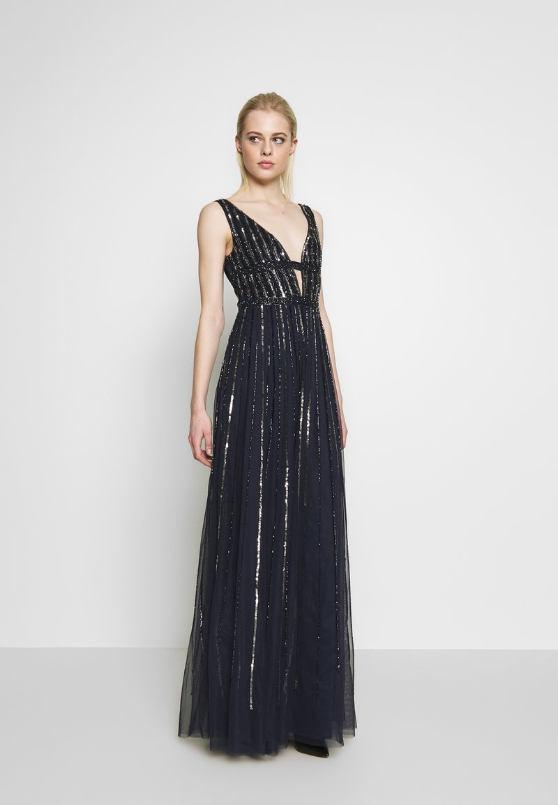 Lace & Beads - MYLA MAXI - Robe de cocktail - navy