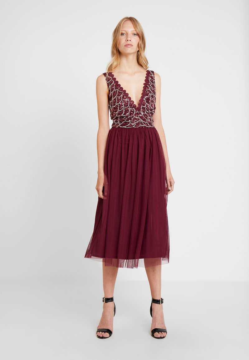 Lace & Beads - ANNALIA MIDI - Cocktailjurk - burgundy