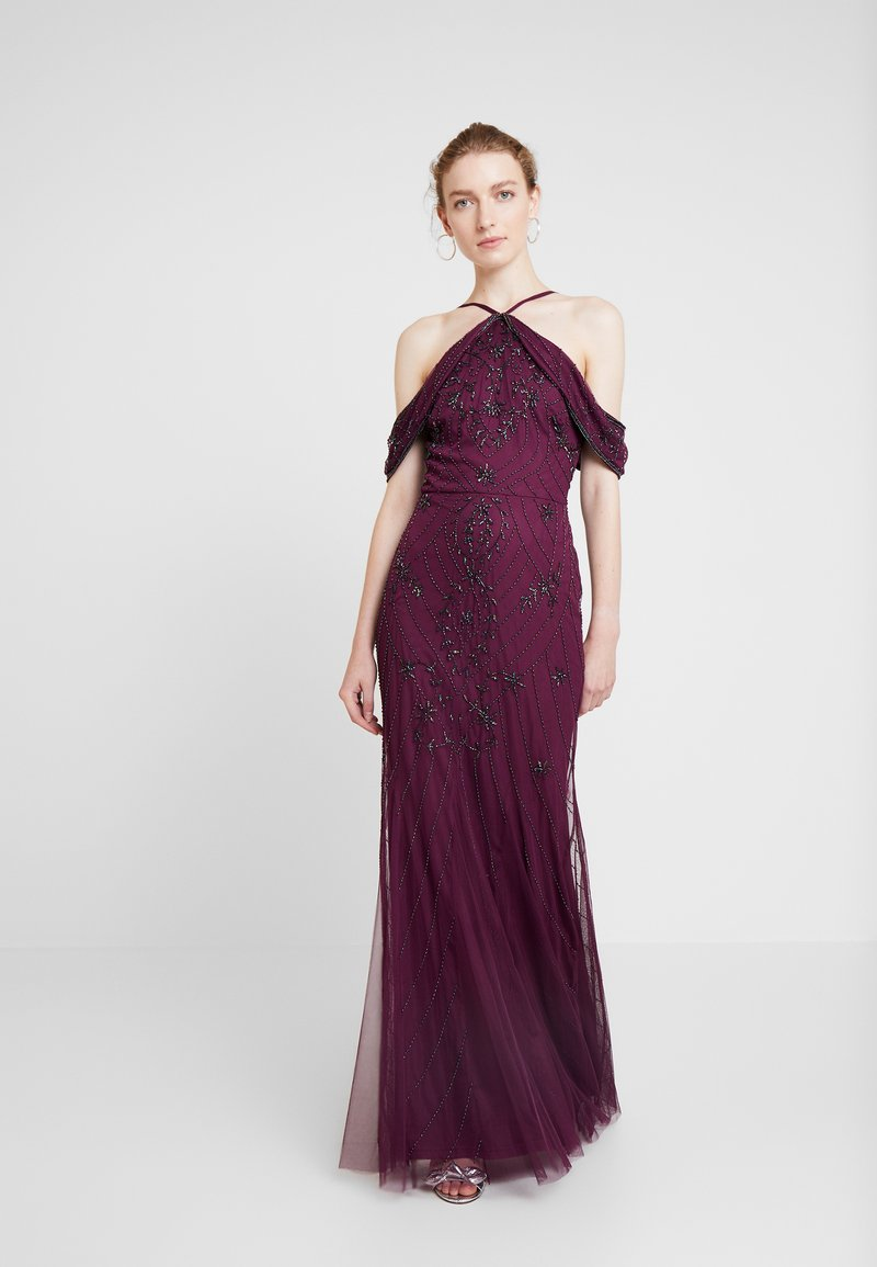 Lace & Beads - MYA MAXI - Occasion wear - burgundy