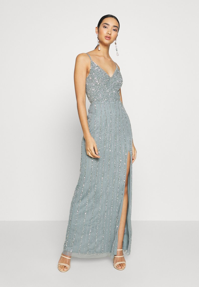 Lace & Beads - MUNA MAXI - Iltapuku - light teal