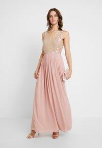 Lace & Beads - AMADINA MAXI - Festklänning - nude - 2