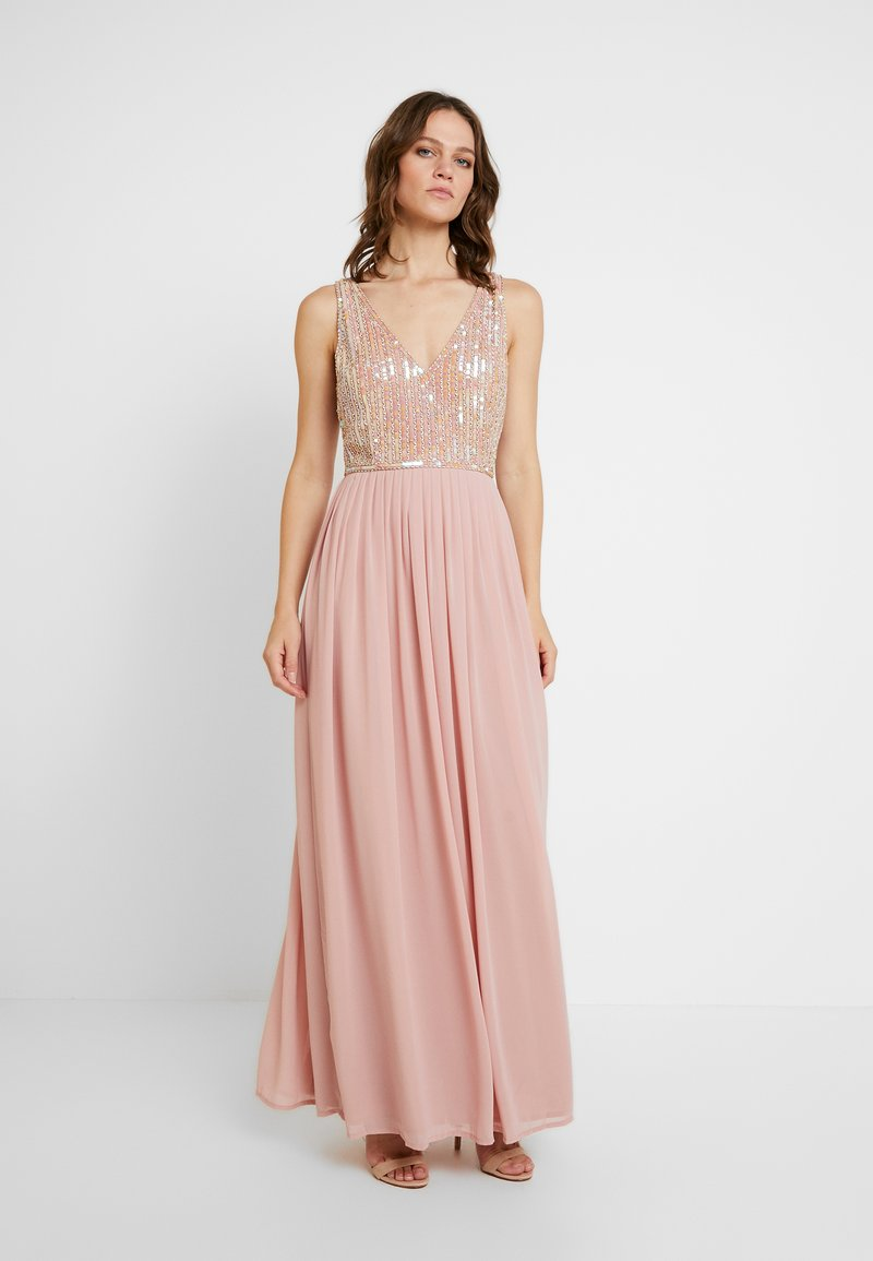 Lace & Beads - AMADINA MAXI - Festklänning - nude