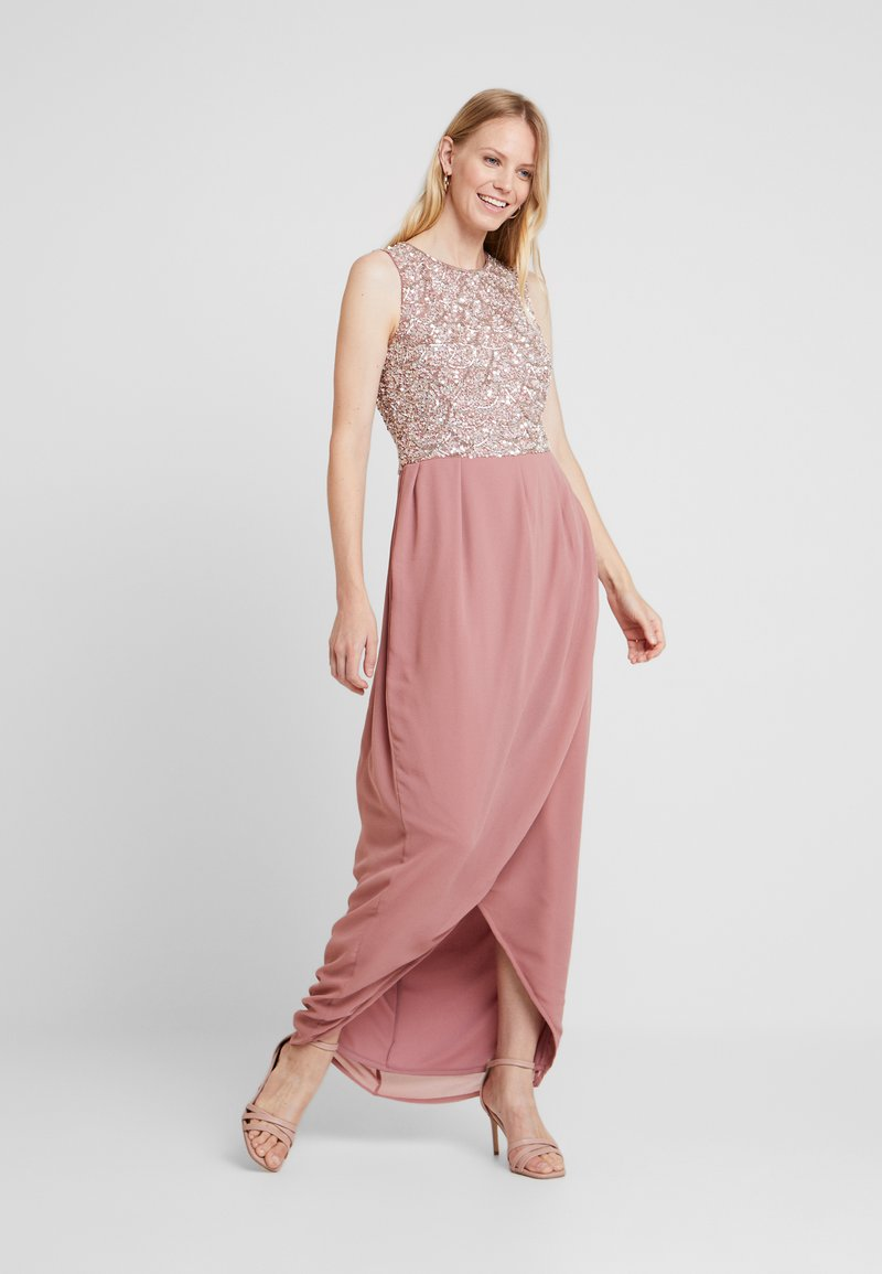 Lace & Beads - AMERAH MAXI - Occasion wear - peach