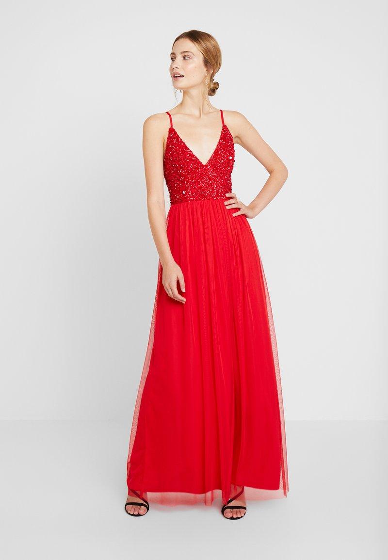 Lace & Beads - IRINA MAXI - Ballkleid - bright red