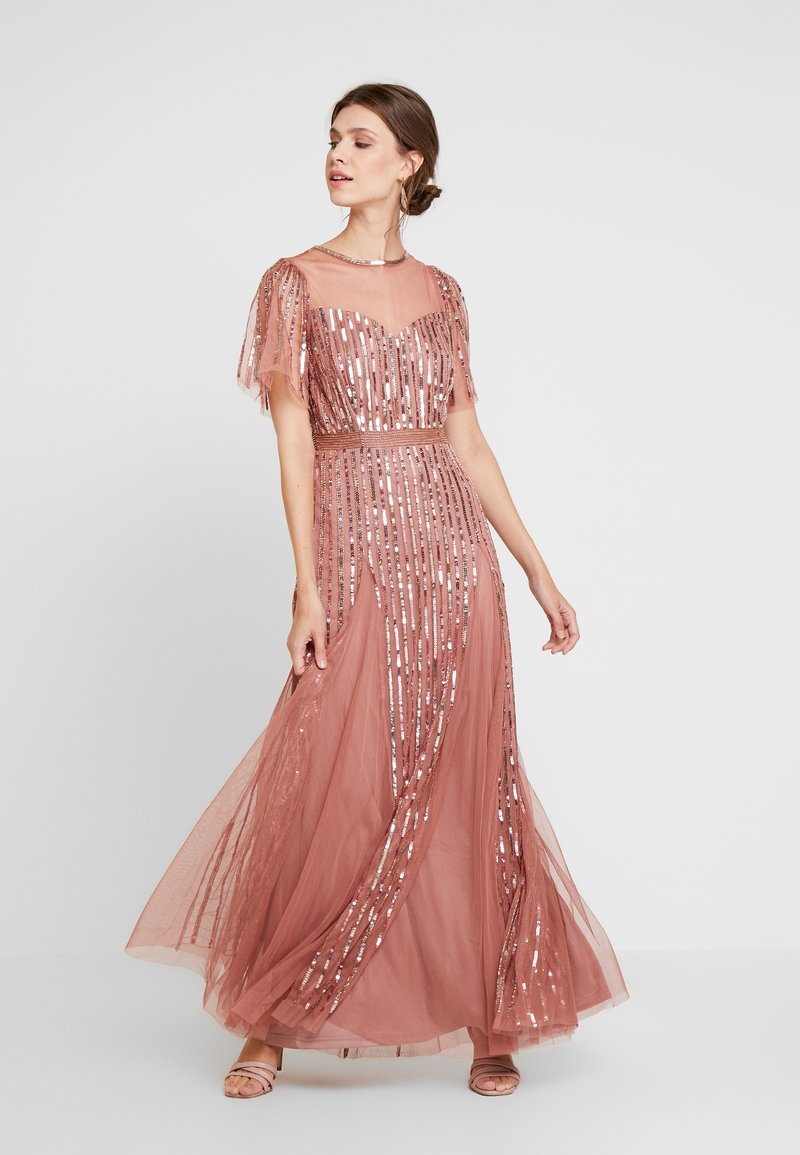 Lace & Beads - MEGHAN MAXI - Ballkjole - dusty pink