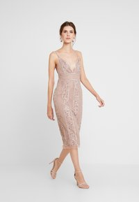 Lace & Beads - MIRABELLA DRESS - Juhlamekko - nude