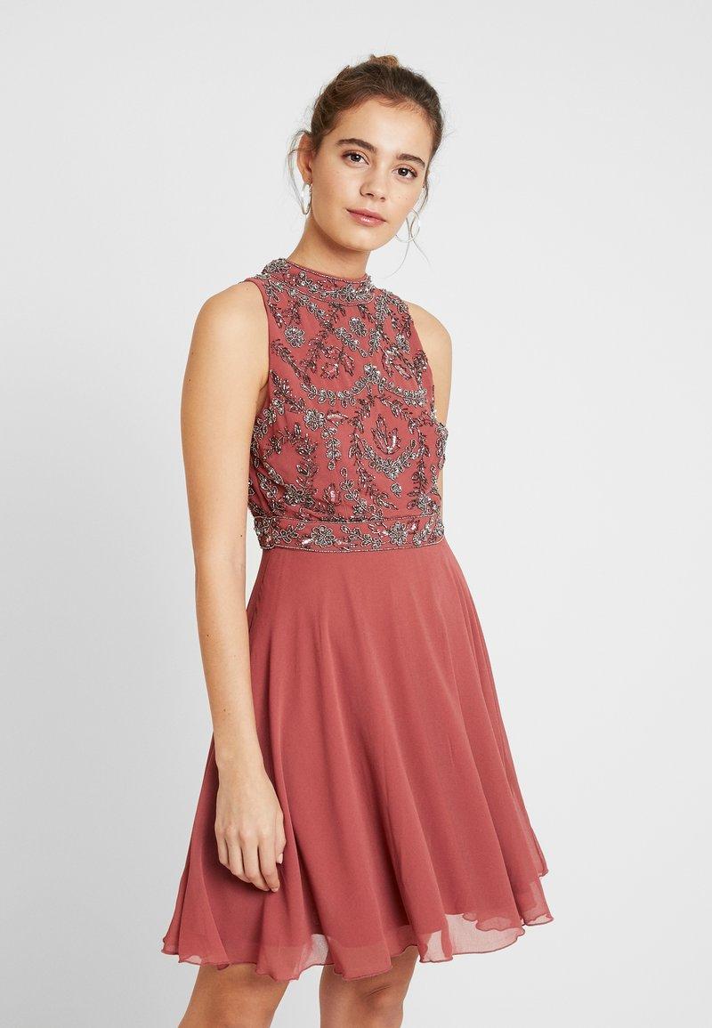 Lace & Beads - AGNES - Robe de soirée - brick