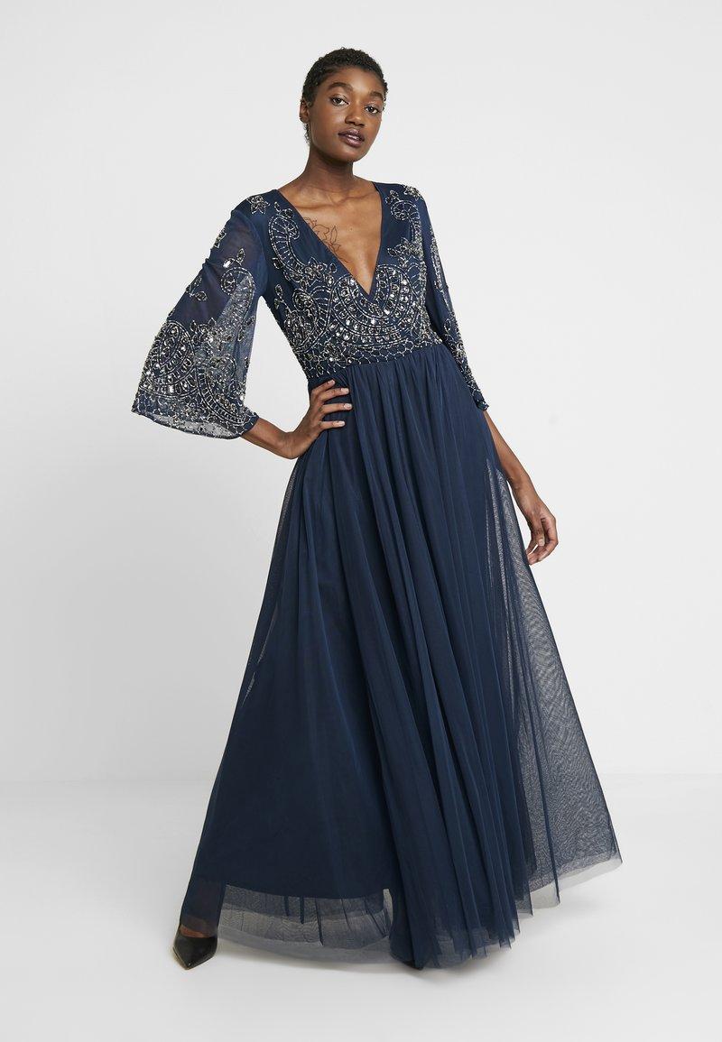 Lace & Beads - BONITA MAXI - Společenské šaty - navy