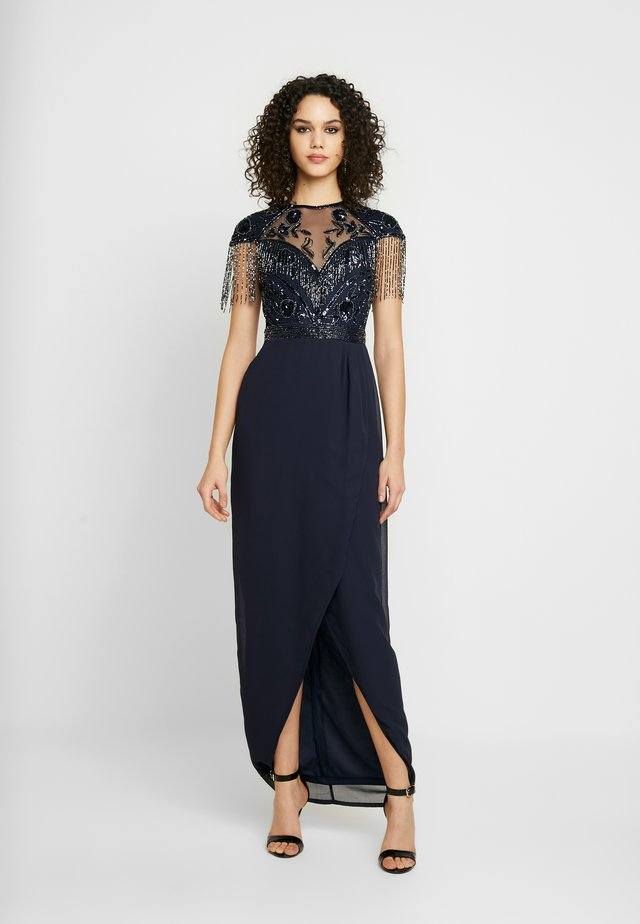 SAVANNA WRAP MAXI - Robe de cocktail - navy