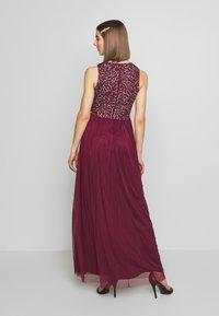 Lace & Beads - KAHLO MAXI - Galajurk - burgundy - 2