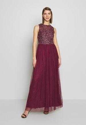 KAHLO MAXI - Společenské šaty - burgundy