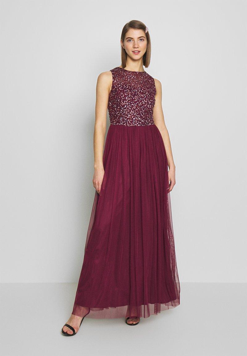 Lace & Beads - KAHLO MAXI - Galajurk - burgundy
