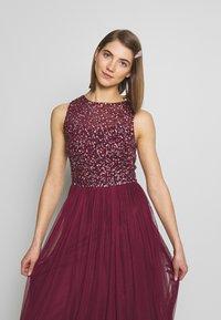Lace & Beads - KAHLO MAXI - Galajurk - burgundy - 3