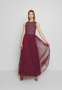 Lace & Beads - KAHLO MAXI - Galajurk - burgundy - 1