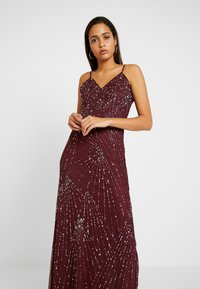 Lace & Beads - RALEIGH STRAPPY MAXI - Iltapuku - burgundy - 4