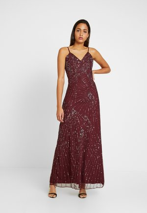 RALEIGH STRAPPY MAXI - Vestido de fiesta - burgundy