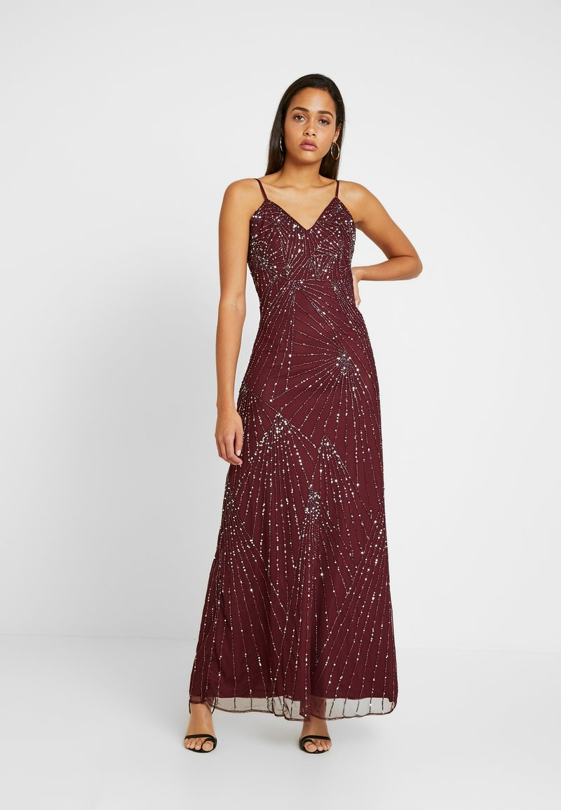Lace & Beads - RALEIGH STRAPPY MAXI - Iltapuku - burgundy