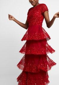 Lace & Beads - MULAN LISHKY CAP SLEEVE MAXI - Iltapuku - red - 4