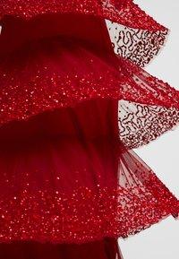 Lace & Beads - MULAN LISHKY CAP SLEEVE MAXI - Iltapuku - red - 5