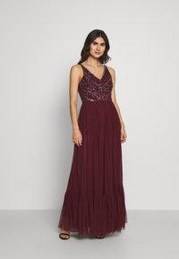 Lace & Beads - BROOKLYN MAXI - Vestido de fiesta - burgundy - 0