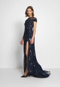 Lace & Beads - MALIA MAXI - Společenské šaty - navy - 1