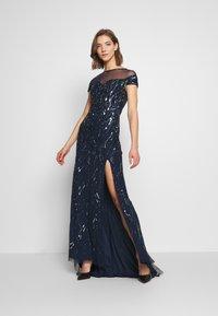 Lace & Beads - MALIA MAXI - Společenské šaty - navy - 0