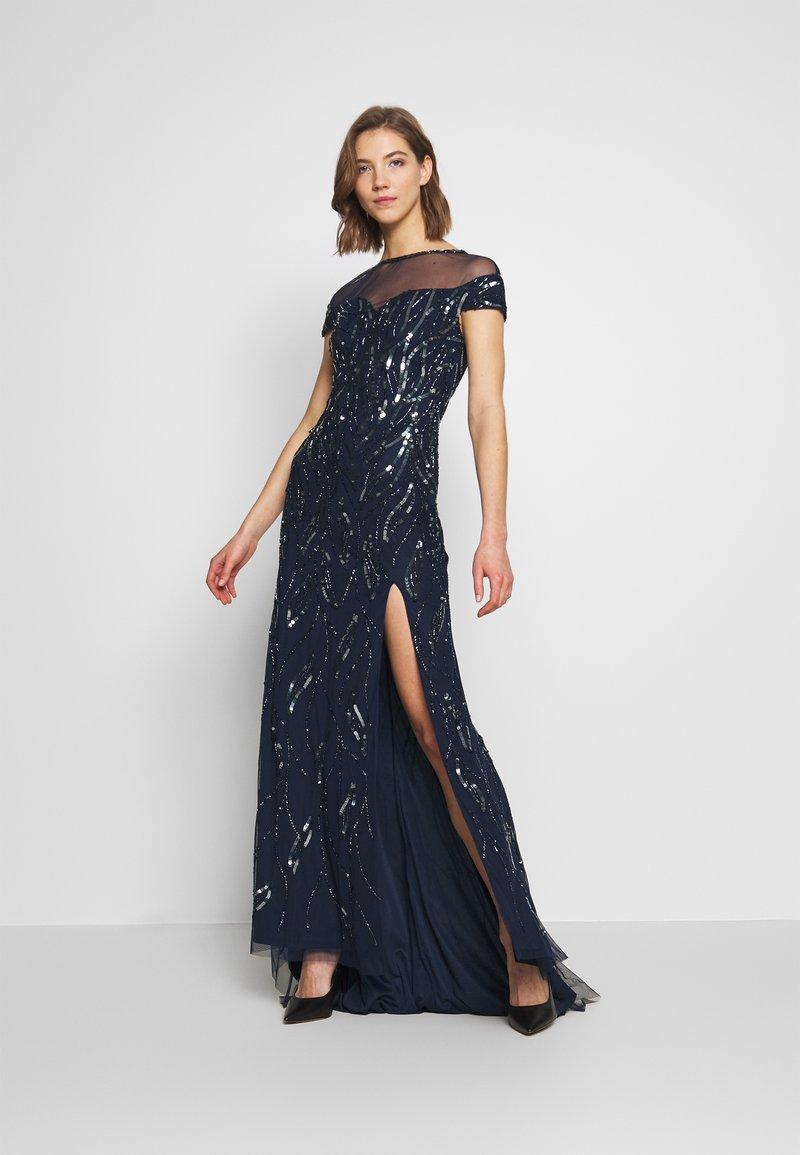 Lace & Beads - MALIA MAXI - Společenské šaty - navy