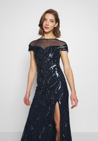 Lace & Beads - MALIA MAXI - Společenské šaty - navy - 4