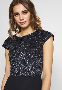Lace & Beads - MERMAID WRAP MAXI - Společenské šaty - navy - 4