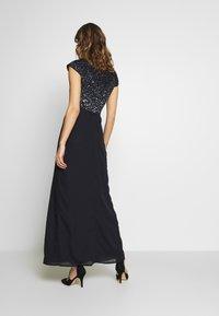 Lace & Beads - MERMAID WRAP MAXI - Společenské šaty - navy - 2