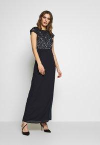 Lace & Beads - MERMAID WRAP MAXI - Společenské šaty - navy - 0