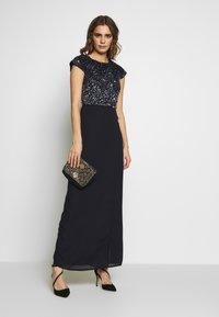 Lace & Beads - MERMAID WRAP MAXI - Společenské šaty - navy - 1