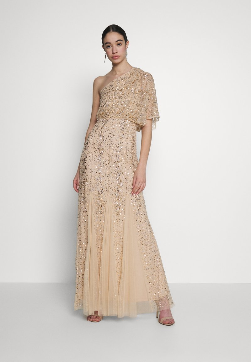 Lace & Beads - ROSE MAXI - Abito da sera - cream