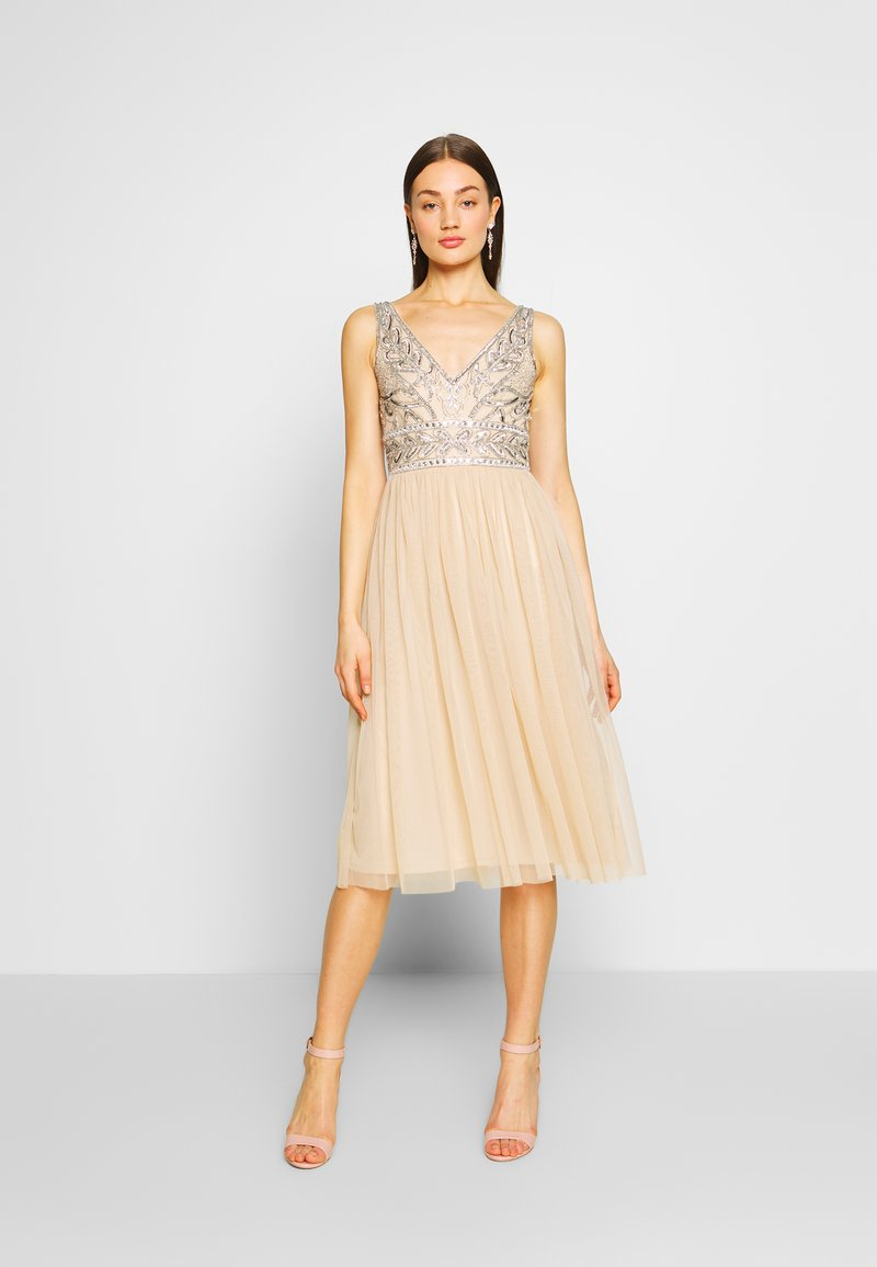 Lace & Beads - MELANIE DRESS - Juhlamekko - cream