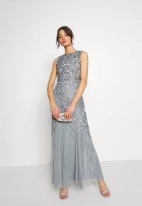 Lace & Beads - PRIYA MAXI - Abito da sera - grey - 1