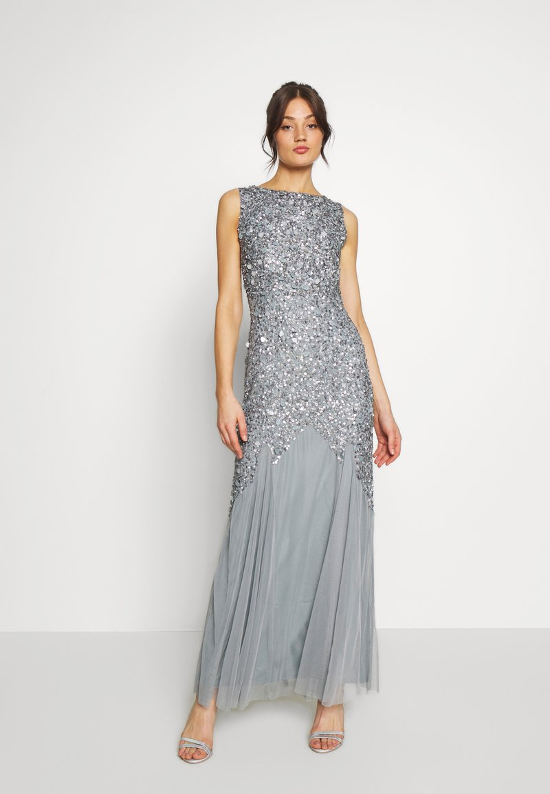 Lace & Beads - PRIYA MAXI - Abito da sera - grey