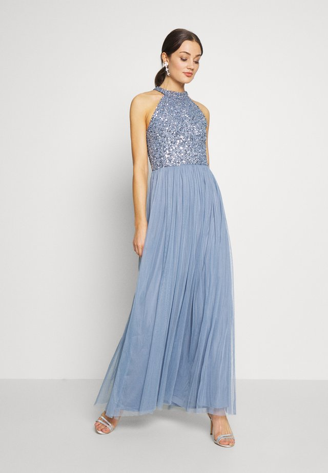 AVALON MAXI - Galajurk - dusty blue